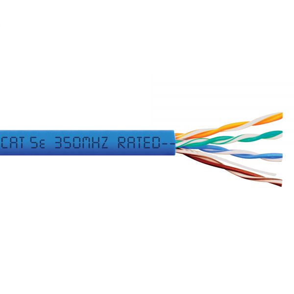 Cat5e PVC 1000ft Solid Ethernet Non-Plenum Cable
