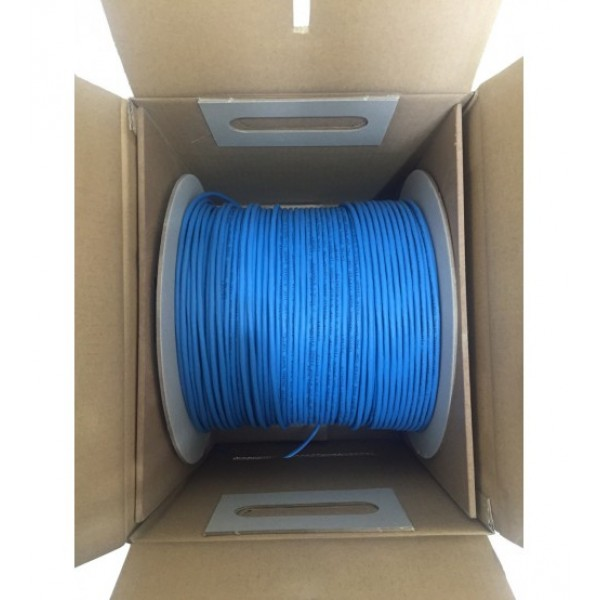 Cat6 PVC 1000ft Non-Plenum UTP Ethernet Networking Cable Blue